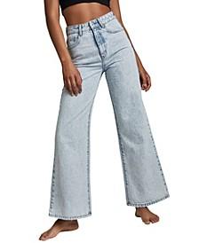 Women's Long Wide Leg Jeans