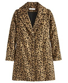 Women's Cheetah Button Coat