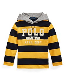 Toddler Boys Striped Jersey Hooded T-shirts