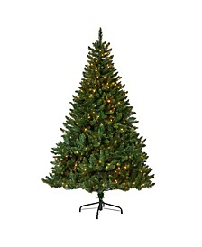 Northern Rocky Spruce Artificial Christmas Tree with 400 Clear Lights and 1330 Bendable Branches