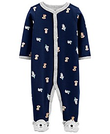 Baby Boys Koala Cotton Snap-Up Sleep and Play One Piece
