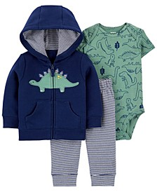 Baby Boys 3-Piece Dinosaur Little Jacket Set