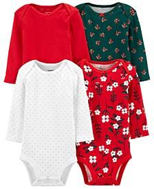 Baby Girls 4-Pack Holiday Original Bodysuit