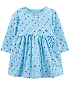 Baby Girls Floral Jersey Dress