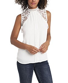 Women's Lace Collar Blouse