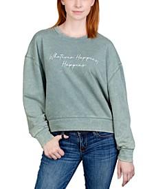 Juniors' Whatever Happens Weathered Graphic Sweatshirt