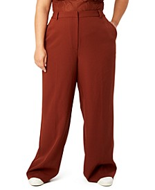 Trendy Plus Size Straight-Leg Pants, Created for Macy's
