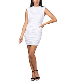 Juniors' Ruched Blouson Bodycon Dress