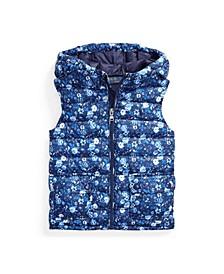 Toddler Girls Water-Resistant Floral Vest