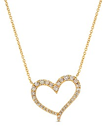 "Strawberry & Nude™ Diamond 18"" Pendant Necklace (1/2 ct. t.w.) in 14k Rose Gold or 14k Yellow Gold"