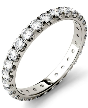 Moissanite Eternity Band (1 ct. t.w. Dew) in 14k White Gold