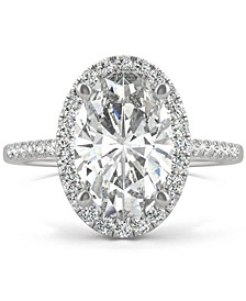Moissanite Halo Engagement Ring (4-3/4 ct. t.w. DEW) in 14k White Gold