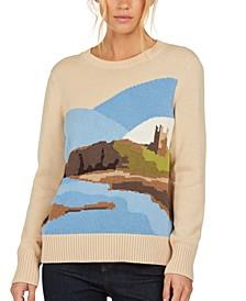 Seagrass Intarsia-Knit Sweater