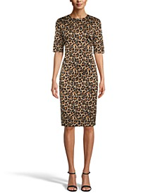 Animal-Print Sheath Dress