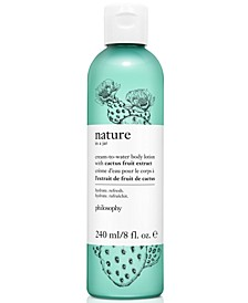 Nature In A Jar Cream-To-Water Body Lotion With Cactus Fruit Extract, 8-oz.