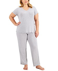 Plus Size Sleep T-Shirt & Essential Sleep Pants Collection, Created for Macy's