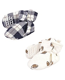 Boys and Girls Quilted Booties, Pack of 2