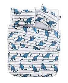 Dino Path Dinosaur 3 Piece Comforter Set, Twin