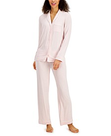 Notched Collar Modal Pajama Set, Created for Macy's