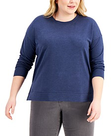 Plus Size Crewneck Sweatshirt, Created for Macy's