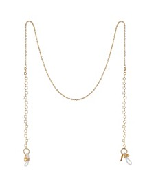 "Gold Flash Plated Star Design 27"" Glasses or Face Mask Chain"