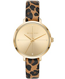 Women's Charley Cheetah-Print Leather Strap Watch 38mm