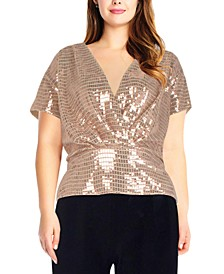 Plus Size Sequinned Top