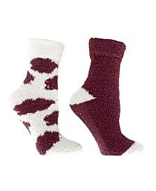 Women's Non-Skid Warm Soft and Fuzzy Slipper Socks, 5 Piece