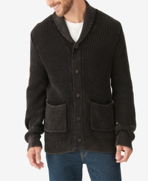 Men's Vintage Sweaters History Lucky Brand Mens Sulphur Cardigan Sweater $129.00 AT vintagedancer.com