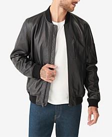 Men's Premium Leather Ma 1 Bomber Jacket
