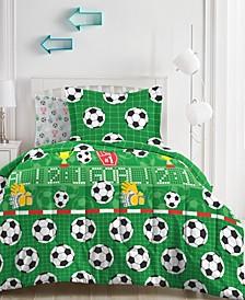 Soccer Field Comforter Bed in a Bag, Full