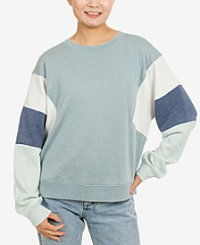 Juniors' Colorblocked Sweatshirt