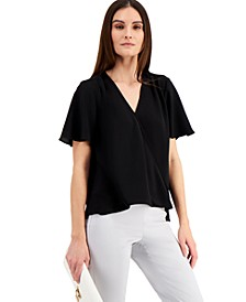 Flutter-Sleeve Surplice Blouse, Created for Macy's
