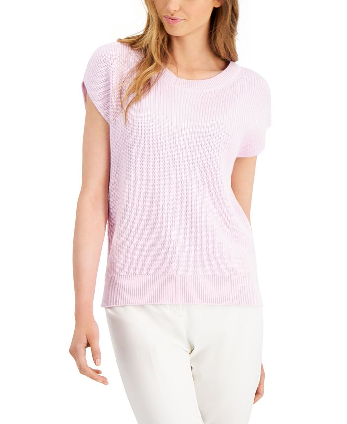 Alfani - Cap-Sleeve Sweater