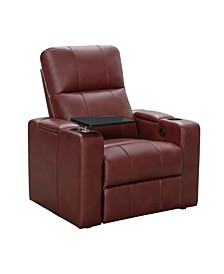 Thomas Power Faux Leather Recliner