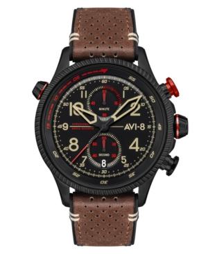 Men's Hawker Hunter Duke Chronograph Tangmere Brown Genuine Leather Strap Watch