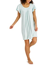 Printed Pleat-Front Chemise Nightgown, Created for Macy's