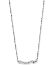 EFFY® Diamond Curved Bar Statement Necklace (1/10 ct. t.w.) in Sterling Silver