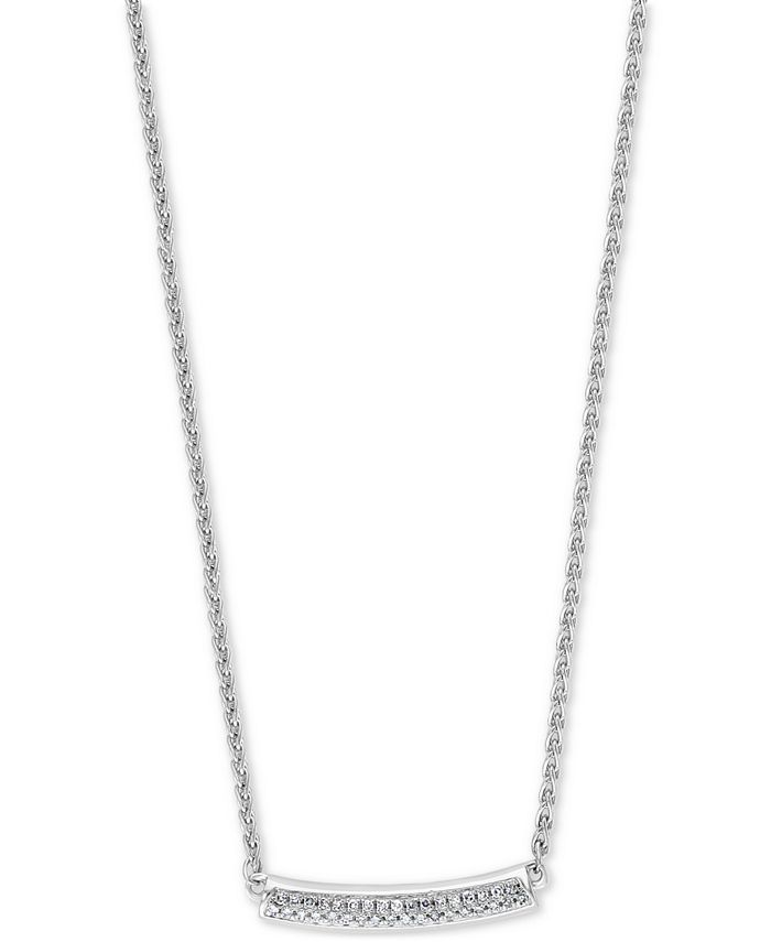 EFFY Collection - Diamond Curved Bar Statement Necklace (1/10 ct. t.w.) in Sterling Silver