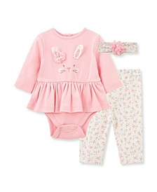 Baby Girls Bunny Bodysuit Pant Set