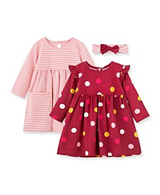 Baby Girls Polka Dot Knit Dress Set