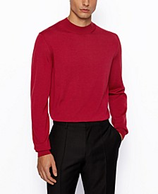 BOSS Men's Diluca Mock-Neck Sweater