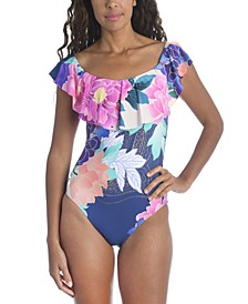 Opulent Oasis Printed One-Piece Swimsuit