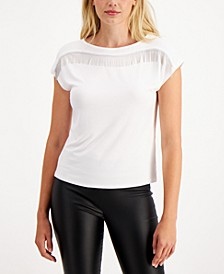Embellished Fringe Top, Created for Macy's