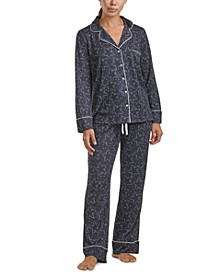 Women's Notch Collar Floral Pajama Set, Online Only