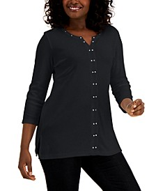 Stud-Trim Tunic, Created for Macy's