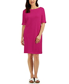 Cotton Cuffed-Sleeve Dress, Created for Macy's