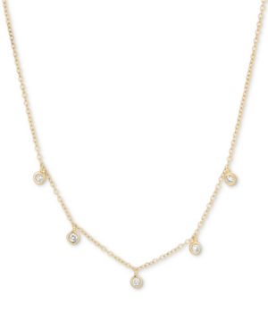 Diamond Drop Statement Necklace (1/10 ct. t.w.) in 18k Gold-Plated Sterling Silver