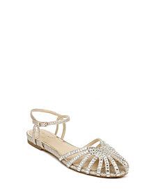 Jewel Badgley Mischka Women's Perla Flat Evening Sandal