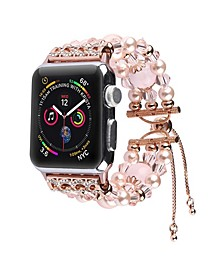 Unisex Bracelet Pink Pearl Band for Apple Watch, 38mm
